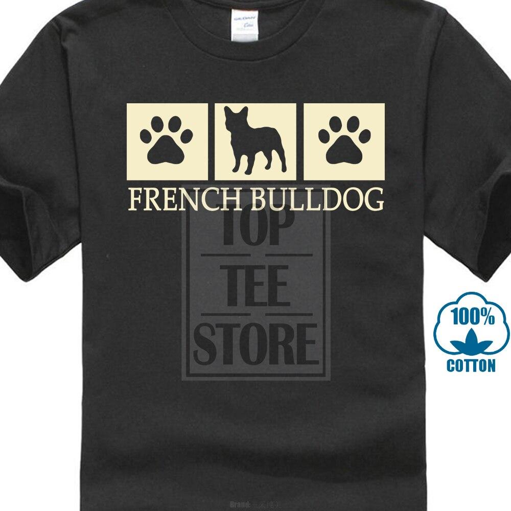 2017 Gilden Neue Französisch Bulldog Silhouette T Hemd Hund Liebhaber T Gedruckt Men's Fashion T Shirt Hipster Tops Hohe Qualität Seien Sie Im Design Neu