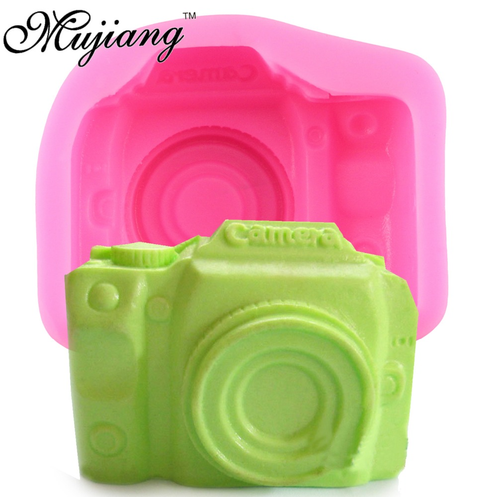 3D Camera Soap Silicone Molds Candle Clay Fimo Mold Gumpaste Chocolate Candy Moulds Fondant Cake Decorating Tools Q129