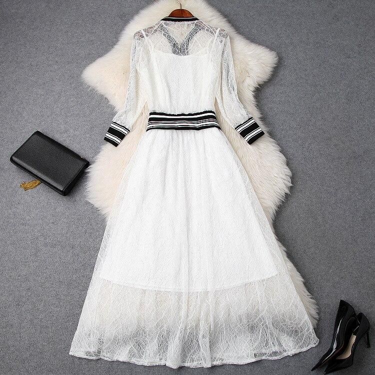 Ah03262 Célèbre Femmes De Design Luxe Piste Style Vêtements 2019 Partie Européenne Marque Mode Ensembles 01wU0rq