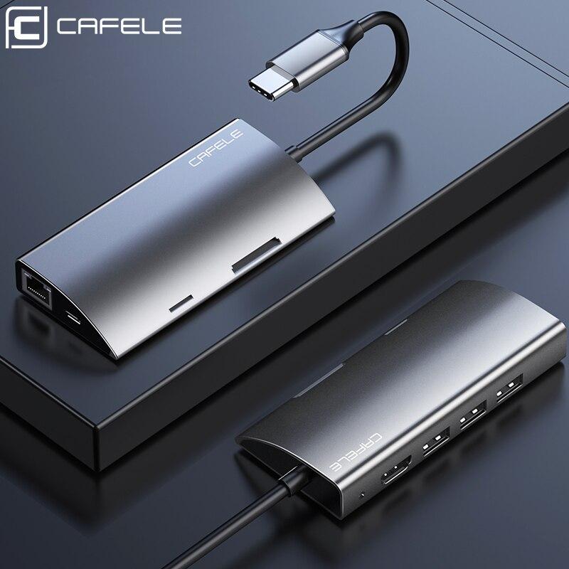 Moyeu de USB C multifonction CAFELE, Type C à Multi USB 3.0 adaptateur HDMI Dock pour accessoires MacBook Pro USB-C séparateur de Type C 3.1