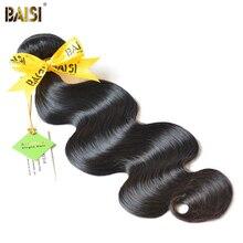 цена на BAISI Body Wave Brazilian Virgin Hair 8-36inch Nature Color 100% Unprocessed Human Hair Bundles Free Shipping