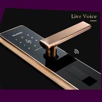 Biometric Fingerprint Door Lock Intelligent Electronic Lock Fingerprint Verification With Password Unlock Smart Copper Steel