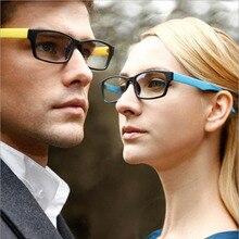 FEISHINI Cheap Multicolor Texture Fake Glasses Women Small Rectangle Eyewear Flexible Frame Student Eyeglasses Men Frames