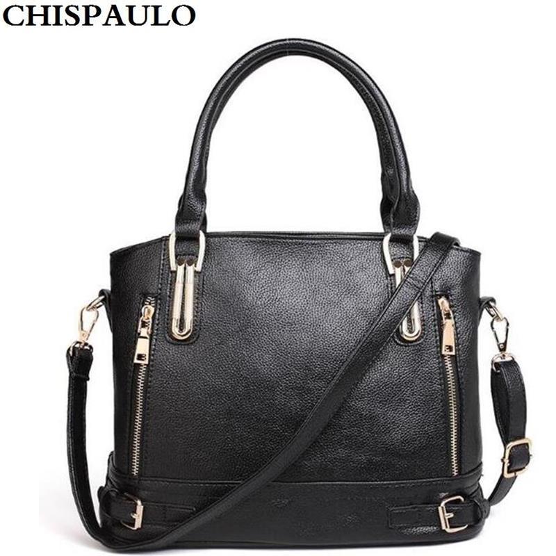Brand New Luxury Women Leather Handbags Female Messenger Bags Solid <font><b>Big</b></font> Women Handbags Set Large Capacity Tote Bolsas Feminina