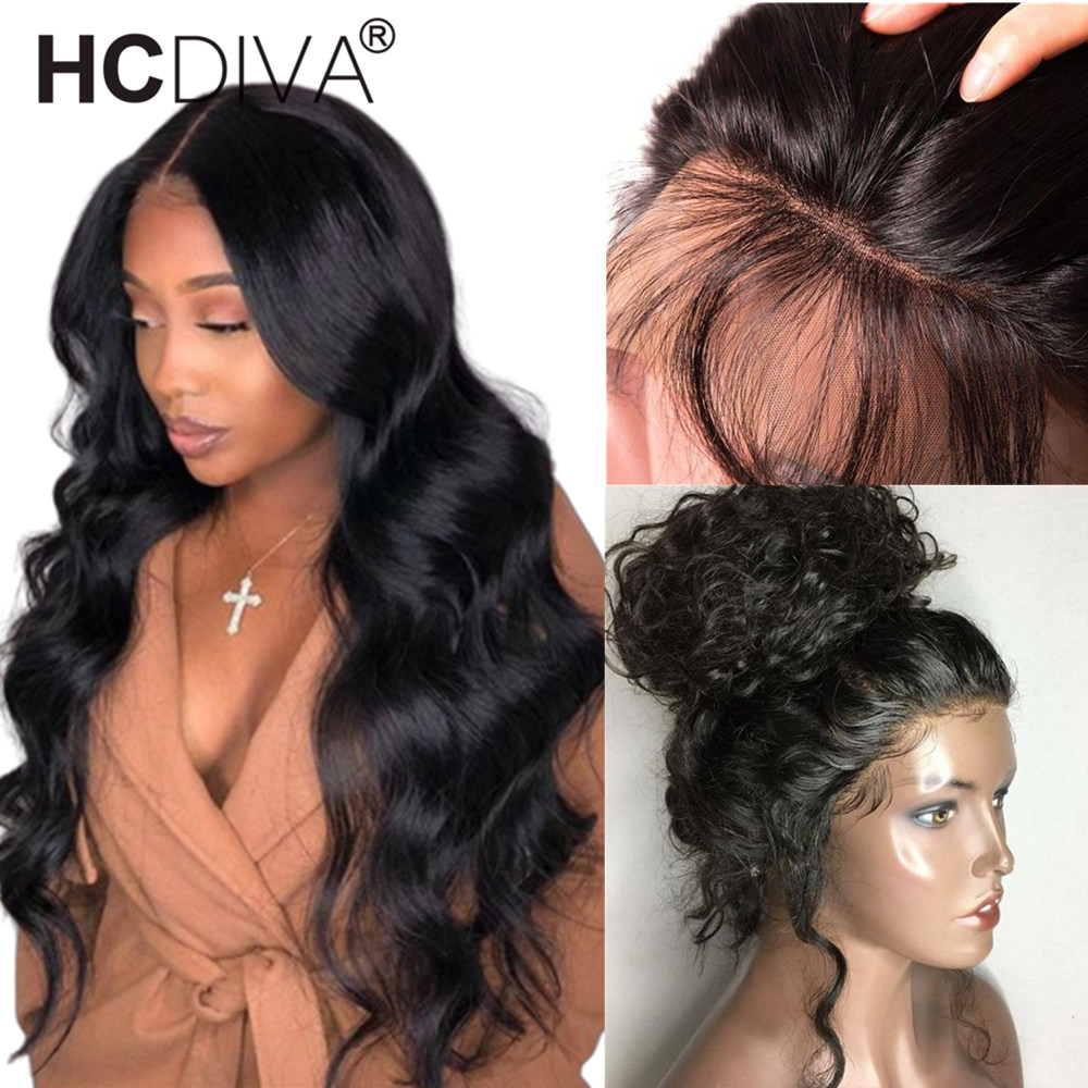 360 Lace Frontal Wig Pre Plucked With Baby Hair Malaysian Body Wave Lace Front Wig 150