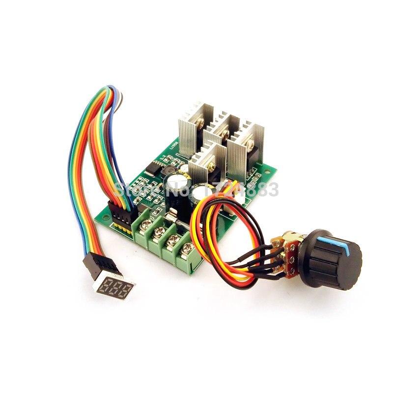 Motors & Parts Pwm Speed Controller Dc Motor Digital Display 0~100% Adjustable Drive Module Input 6v-60v 30a
