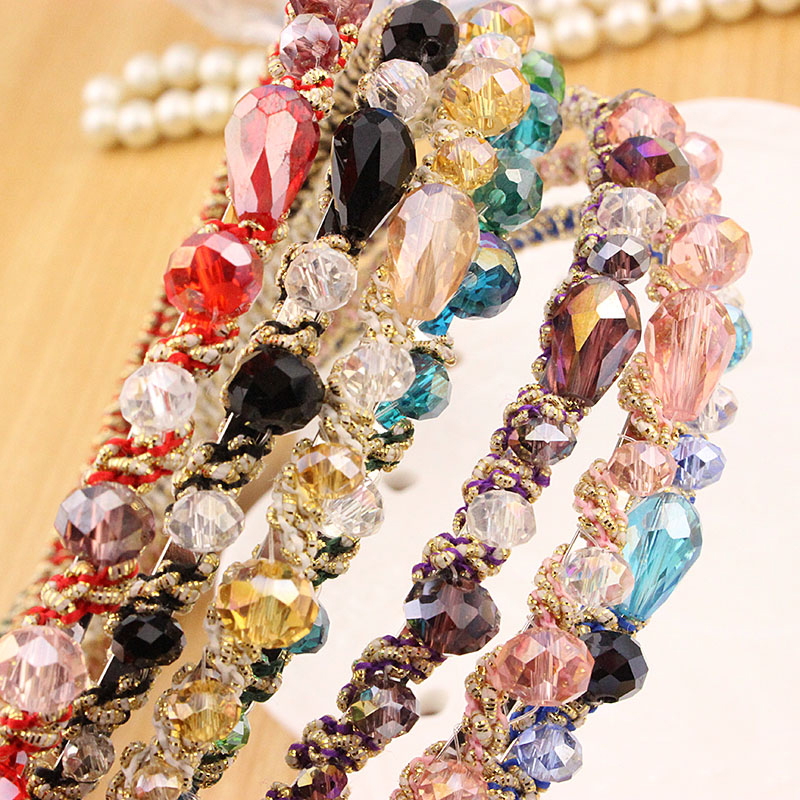1pc Fashion Colorful Hairpin Super Flash Head With Irregular Crystal Hairband Girls Ladies Hair Accessories