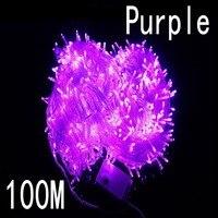 Precio Luces LED de Navidad de color púrpura de 100 metros y 800 8 modos para decoración