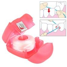 Горячая 15 м портативная зубная нить Уход за полостью рта очиститель зубов с коробкой практичные гигиенические принадлежности для гигиены полости рта зубочистки палочки