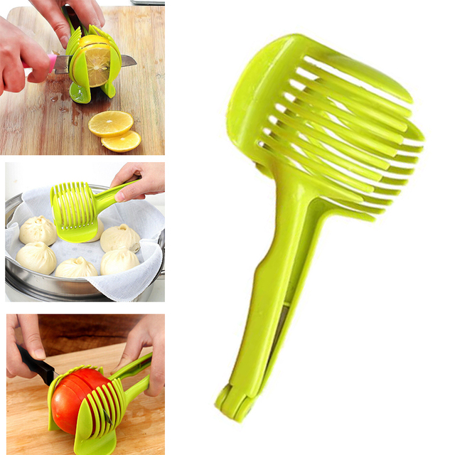 1 Pc Plastic Potato Slicer Tomato Cutter Tool Shreadders Lemon Cutting  Holder Cooking Tools Kitchen Accessories