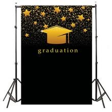 Neoback 2019 Graduation Party Photo Background Photophone Golden Shiny Stars Black Photography Backdrops Studio Shoots