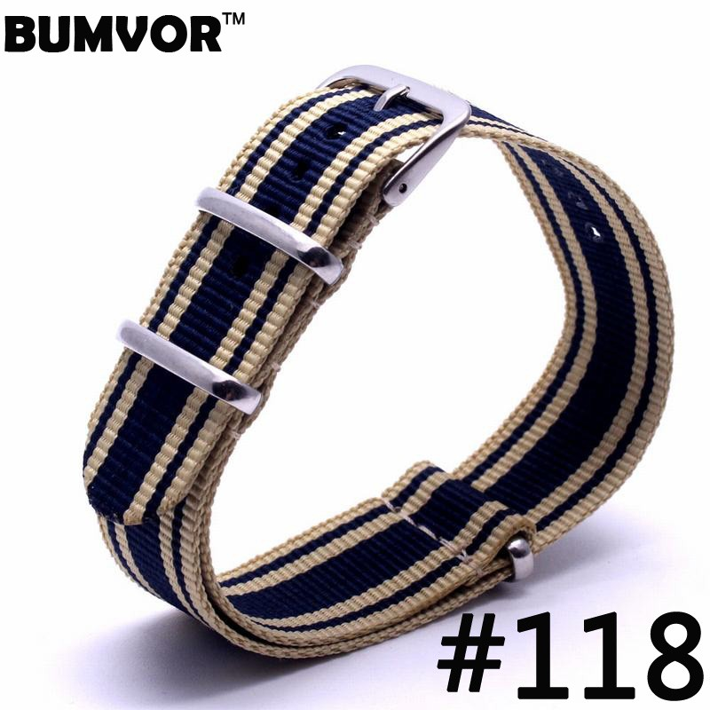 1pcs Wholesale Lot Stripe Retro 22mm Strong Military Army Nato Fabric Nylon Watch Woven Straps Bands Buckle 22mm Watchbands