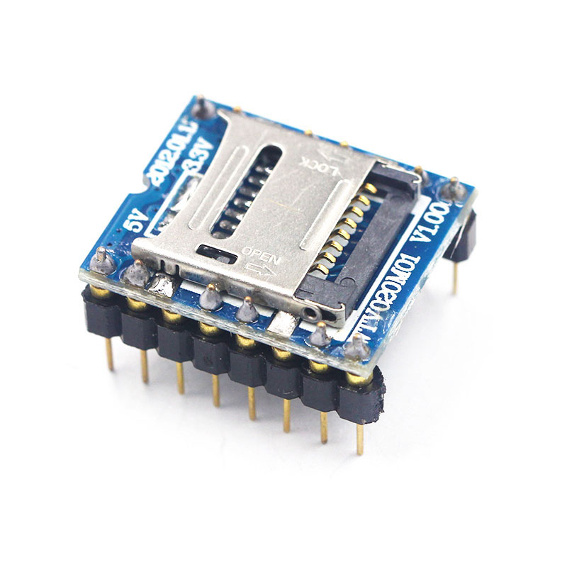 WTV020 WTV020-SD WTV020SD-20SS Mini SD Card MP3 Sound Module Voice Module For PIC Arduino 2560 UNO R3 WTV020-SD-16P