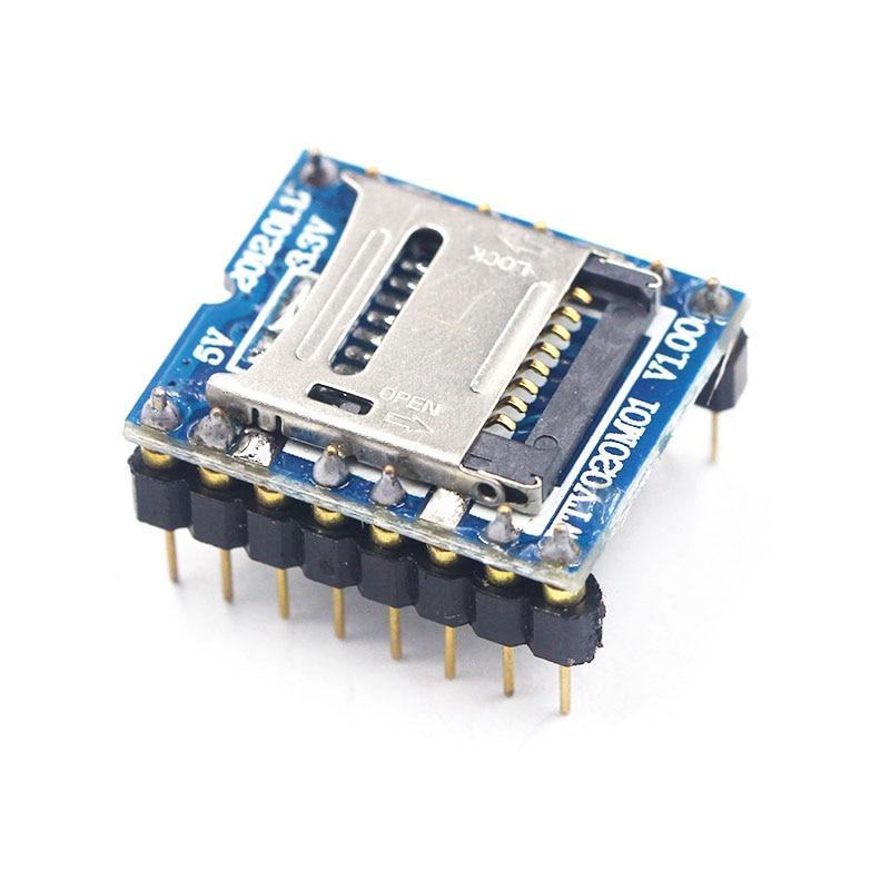 WTV020 WTV020-SD WTV020SD-20SS Mini SD Card MP3 Sound Module Voice Module For PIC Arduino 2560 UNO R3 WTV020-SD-16P