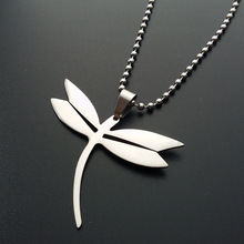 10 stainless steel flying dragonfly pendant necklace small insect animal beneficial Peace pigeon bird jewelry