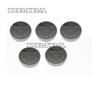 5 шт./упак. 3,6 В LIR2450 аккумуляторные батареи 120 мА · ч 500 раз рециркуляции литиевых монет Кнопка батарея заменена CR2450