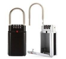 цена на Storage Lock Box, 4-Digit Combination Lock Box, Wall Mounted Lock Box, Resettable Code
