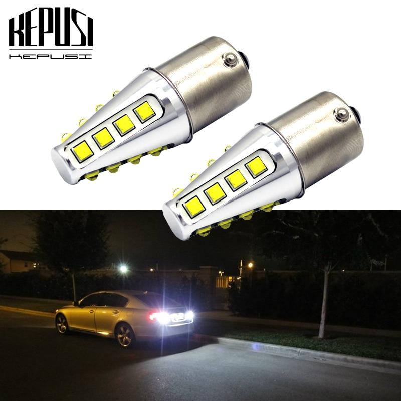 2x LED XENON WHITE BACKUP REVERSE BULB HIGH POWER LIGHT BA15S 1156 7506 7527 1A