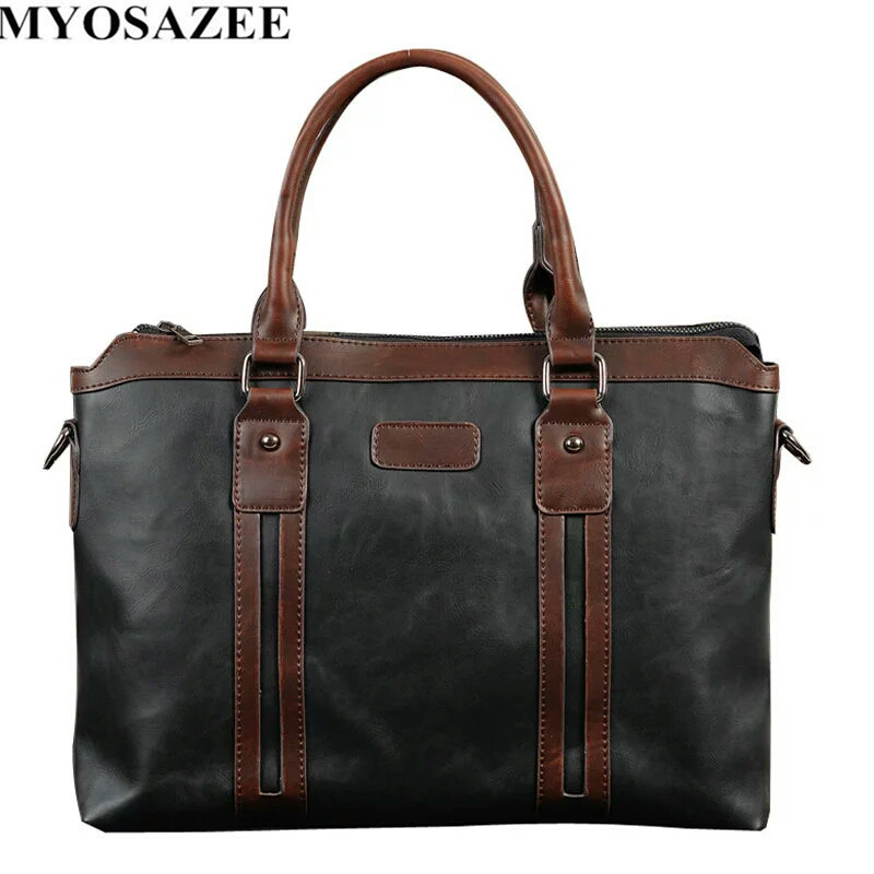 Fashion Brand Design Men's Briefcase Satchel Bags For Men Business Male Messenger Bag  Shoulder Vintage Business Handbag
