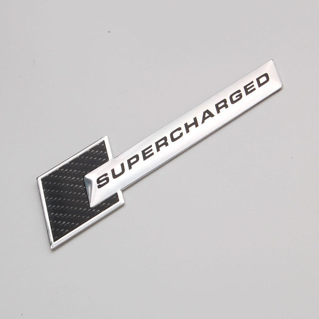 Auto Aluminum Supercharged Super Charged Bumper Trunk Fender Hood Decals Badge Sticker Fit For A4 A5 A8 Q3 ect