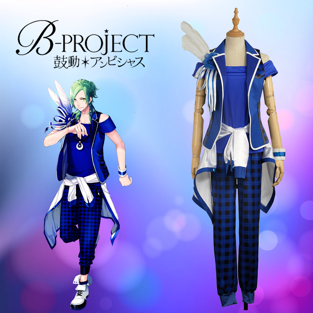 W1014 Anime/Game Virtual Idol Group B-project  MOONS Wasari Hiraku Stage Cosplay Custom Costume Outfit Clothing For Adult