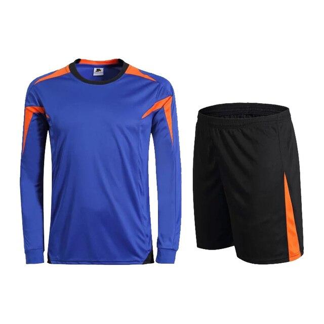 Unión hermoso Club de Fútbol Azul de Manga Larga Establece hombres Deportes  Fútbol Camisetas Uniformes Del 286dec51e82f5