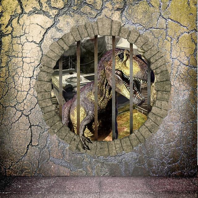 Jurassic park stereoscopische muur dinosaurus slaapkamer van ...