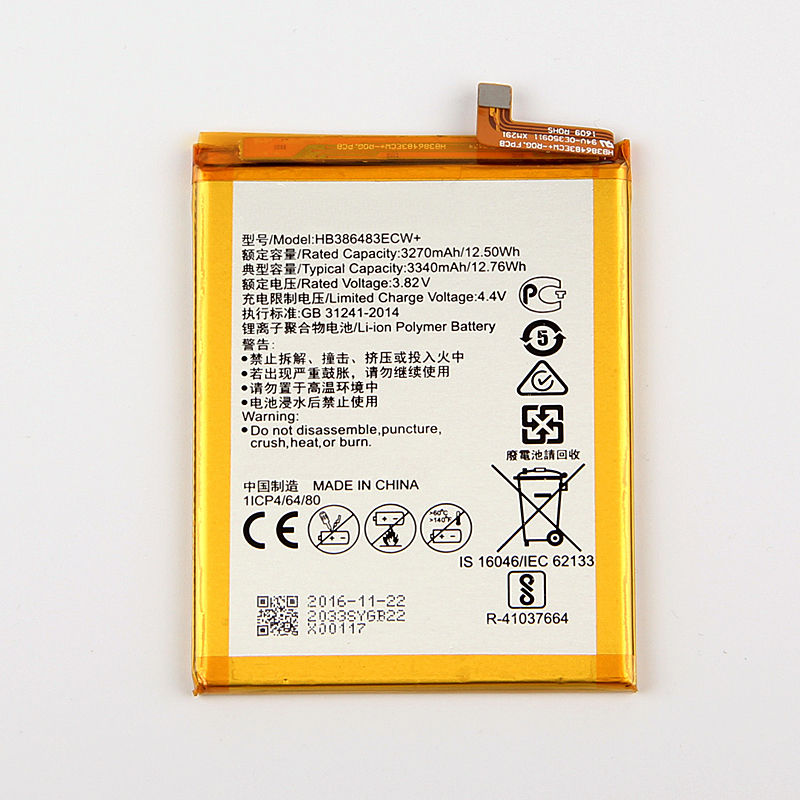 Original Huawei HB386483ECW Li-ion phone battery For Huawei honor 6X G9 plus Maimang 5 MLA-AL00 MLA-AL10 G9Plus  3340mAh
