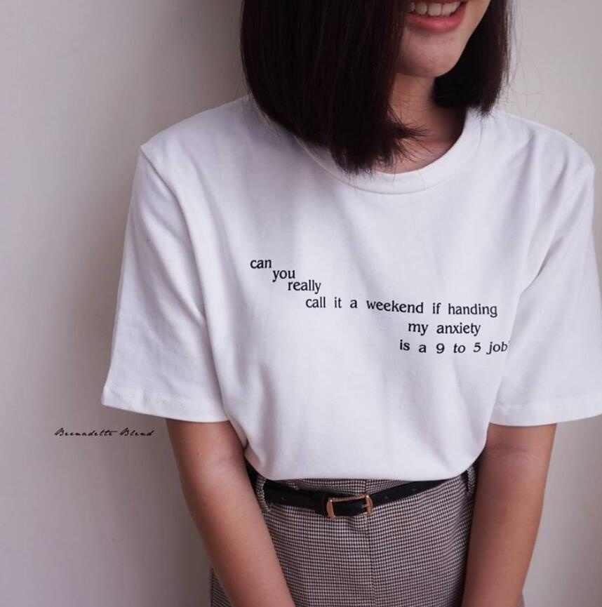Can You Really Call It A Weekend Letter T Shirt Women Tumblr Inspired Pastel Pale Grunge Aesthetic Tees Funny Tees Tops T Shirt T Shirts Aliexpress