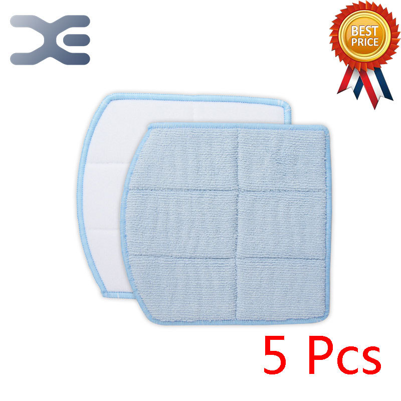 5Pcs For Ecovacs Vacuum Cleaner Accessories Mop Cleaner Cloth Devil Card CEN360 Box PLUS