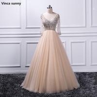 Vinca Sunny Evening Dress 2017 Robe De Soiree Longue Formal Dress Vestido Longo Beaded Crystal Half