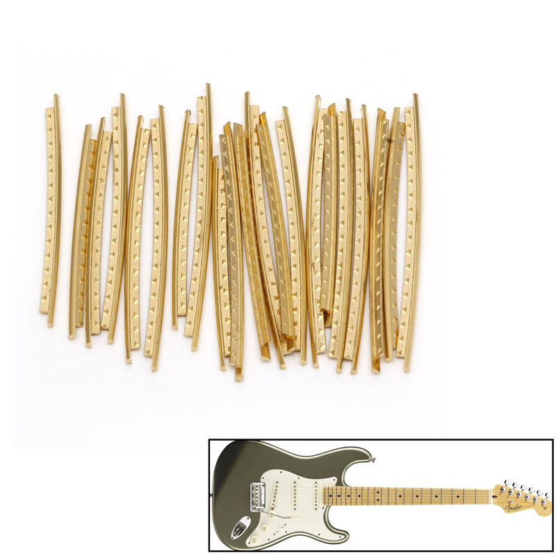 21pcs Fingerboard Frets Fret Wire For Acoustic Guitar Brass/cupronickel/stainless Steel Flat Angle/corner Cut Frets 2.2mm Musical Instruments