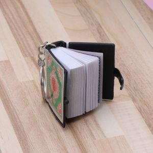 Image 3 - Mini Ark Koran Boek Sleutelhanger Real Papier Kan Lezen Arabisch De Koran Sleutelhanger Moslim Sieraden Kerst Decoratie Kinderen Geschenken