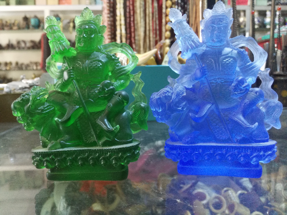 MOEHOMES 2 color Chinese antique colored glaze statue Heavenly Kings statue Classical home decorationMOEHOMES 2 color Chinese antique colored glaze statue Heavenly Kings statue Classical home decoration