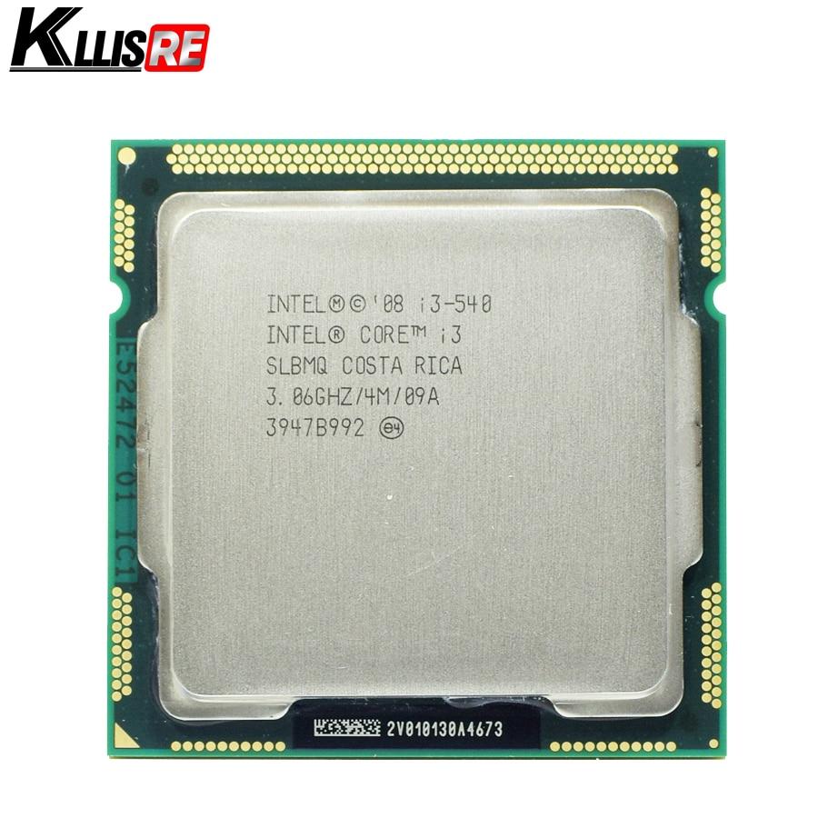 الأصلي إنتل كور i3 540 3.06 جيجا هرتز 4 ميجابايت معالج cpu مخبأ LGA1156 desktop(