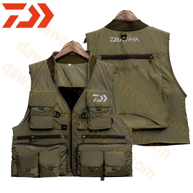 2019 Reliective Fishing Vest Quick Dry Fish Vest Breathable Dawa Fishing Jacket Outdoor Multi-pocket Reflected Light Waistcoat