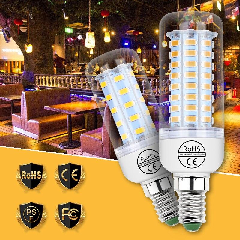 LED Lamp E14 Corn Bulb E27 Lamp LED Light GU10 220V LED Bulb 3W 5W 7W 9W 12W 15W Ampoule B22 Light 5730SMD Chandelier Lighting