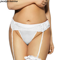 Jocelyn Katrina Brand Sexy Lace Underwear Available White Color Pants Open Crotch Garters