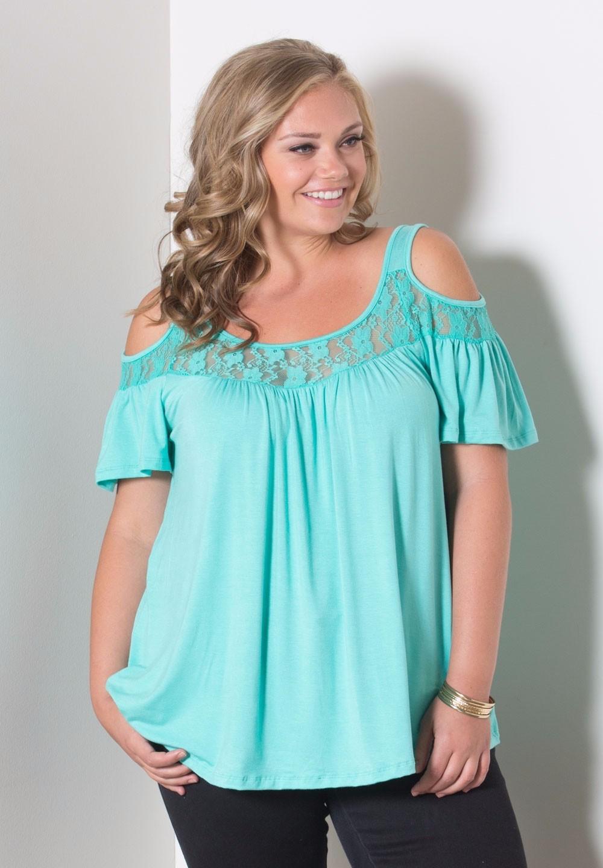 HTB1XfGJKFXXXXaQaXXXxh4dFXXX6 - Off Shoulder Summer Tops Short Sleeve Lace Patchwork Loose