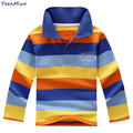 Kids T Shirt Boys Long Sleeve Cotton Polo Shirt Children Striped T-shirt Brand Design Tops Baby Bottoming Shirt Spring Summer