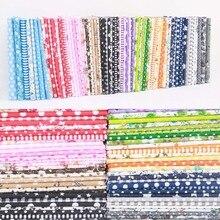 10 colores Patchwork de alta calidad DIY costura estilo mixto estampado Floral 100% prenda de tela de algodón Material 7 hoja