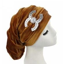 Новое Поступление Бархат женские Тюрбан Hat Индии Hat Chemothera Hat Beanies Шляпы Skullies