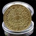 1 x Aztec Mayan Calendar Souvenir Gold Plated Commemorative Coin Collection Gift
