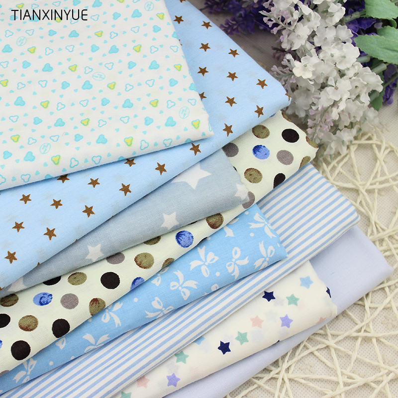 Twill 8 pcs cartoon cotton fabric for diy patchwork sewing for Sewing fabric