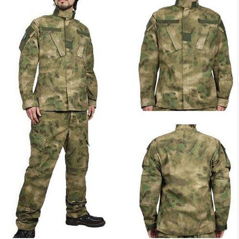BDU FG A-TACS Camouflage Military Combat Training Uniform sets Clothing + Pants hunting paintball часы наручные tacs часы tacs nature l brown black