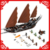 LEPIN 16018 Lord Of The Rings Ghost Pirate Ship Building Block Compatible Legoe 756Pcs DIY Toys