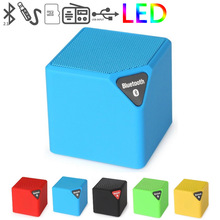 Fineblue Bluetooth Speaker X3 Cube Led Speaker TF USB Wireless Portable Music Player Sound Box Subwoofer Loudspeakers with Mic