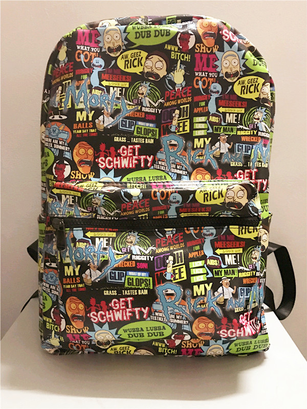 Anime Rick And Morty Cos Man Woman  Waterproof Large Capacity Schoolbag Mochilas Laptop Backpack Bookbags Knapsack Rick Morty