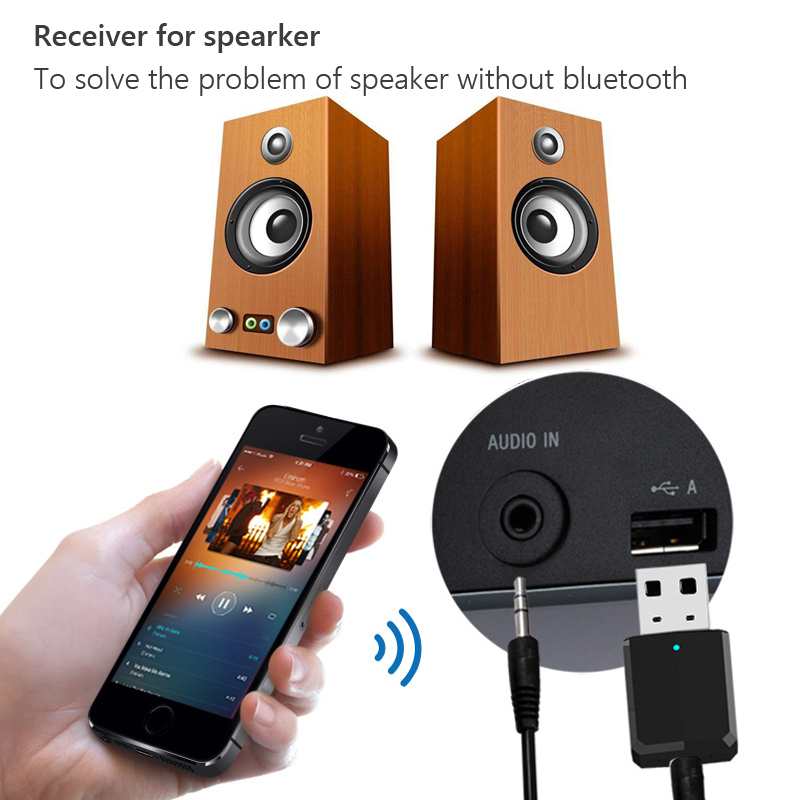 Image 4 - New bluetooth adapter wireless transmitter receiver 2 in 1 3.5mm Aux PC TV car stereo headphone audio doc player adaptor LYJF-in USB Bluetooth Adapters/Dongles from Computer & Office