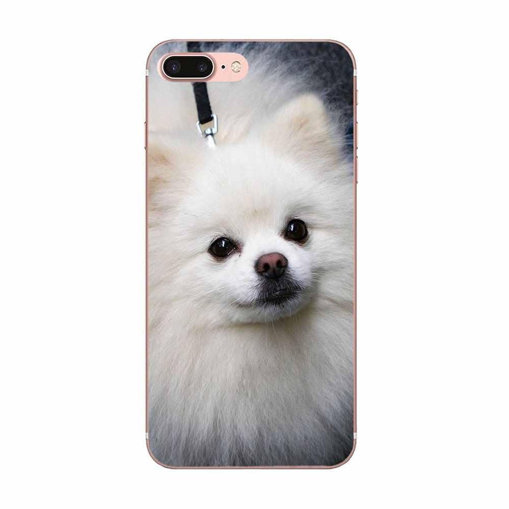 كلب صغير طويل الشعر جرو الكلب الهاتف غطاء حالة ل غالاكسي الكبرى ألفا G850 Core2 رئيس S2 I9082 A3 A5 A7 On5 On7 2015 2016 2017